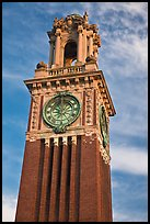 Carrie Tower, at sunset, Brown University. Providence, Rhode Island, USA (color)