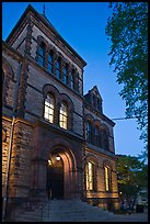 Sayles Hall (1881) at dusk, Brown University. Providence, Rhode Island, USA ( color)