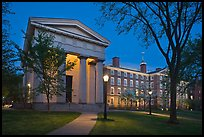 Manning Hall and  University Hall by night, Brown University. Providence, Rhode Island, USA ( color)