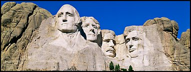 US Presidents, Mount Rushmore National Memorial. South Dakota, USA (Panoramic color)