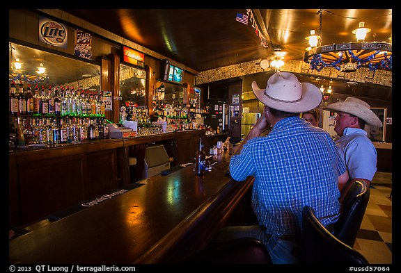 Inside bar, Interior. South Dakota, USA (color)