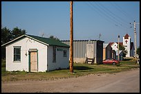 Street with jail and church, Interior. South Dakota, USA (color)