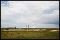 Launch facility Delta-09. Minuteman Missile National Historical Site, South Dakota, USA (color)
