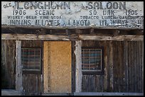 Old Longhorn Saloon, Scenic. South Dakota, USA (color)