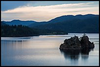 Islets in Pactola Reservoir. Black Hills, South Dakota, USA (color)
