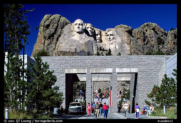 Entrance of Alley of the Flags,  Mount Rushmore National Memorial. South Dakota, USA (color)