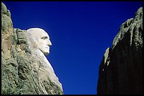 George Washington profile, Mt Rushmore National Memorial. South Dakota, USA ( color)