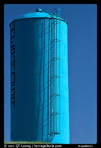 Blue water tower. South Dakota, USA
