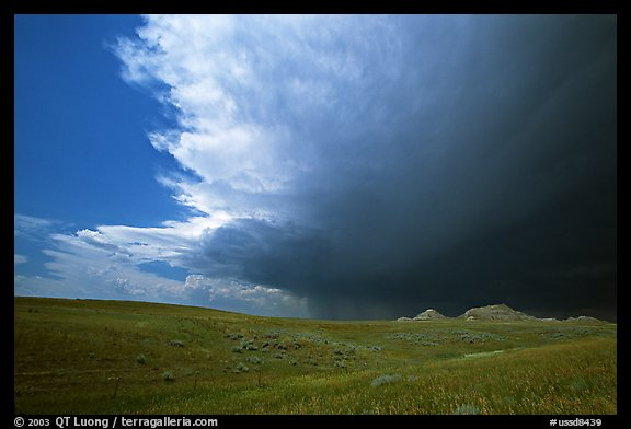 Storm cloud over prairie. South Dakota, USA (color)