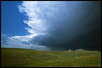 Storm cloud over prairie. South Dakota, USA