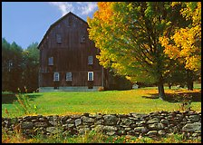 Lee Farm on Ridge Road. Vermont, New England, USA