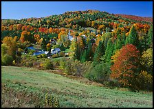 East Topsham village in the fall. Vermont, New England, USA ( color)