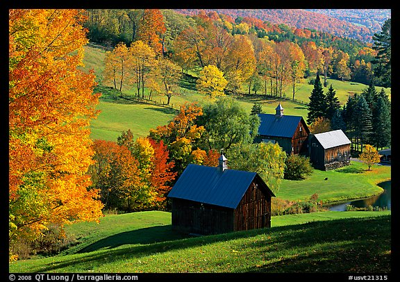 Sleepy Hollow Farm near Woodstock. Vermont, New England, USA (color)