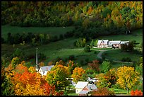 East Orange village in autumn. Vermont, New England, USA