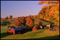 Jenne Farm, sunrise. Vermont, New England, USA ( color)
