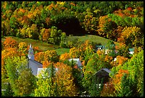 East Topsham village with autumn foliage. Vermont, New England, USA ( color)