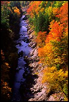 Quechee Gorge in fall. Vermont, New England, USA (color)