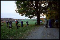 Photographers at Jenne Farm. Vermont, New England, USA ( color)