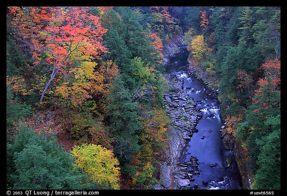 Quechee Gorge in autumn. Vermont, New England, USA (color)
