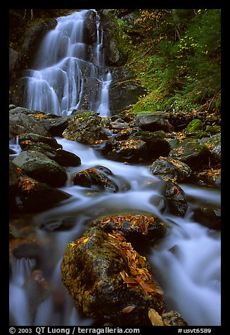 Moss Glen Falls, Green Mountains. Vermont, New England, USA