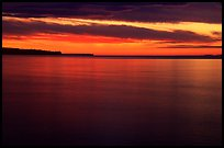 Apostle Islands National Lakeshore at sunset. Wisconsin, USA ( color)