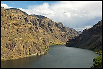 Hells Canyon Reservoir. Hells Canyon National Recreation Area, Idaho and Oregon, USA (color)
