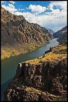 Cliffs and canyon. Hells Canyon National Recreation Area, Idaho and Oregon, USA ( color)