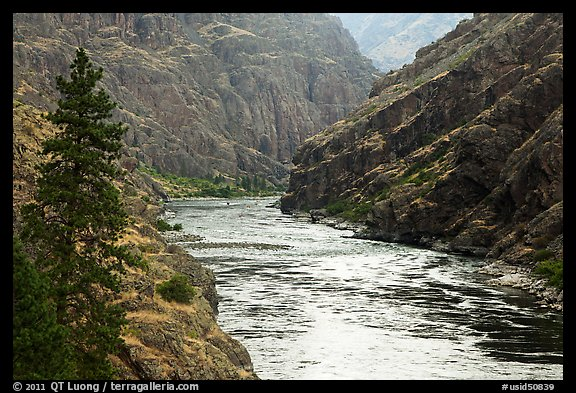 Wild portion of Snake River. Hells Canyon National Recreation Area, Idaho and Oregon, USA (color)
