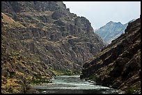 Basalt cliffs. Hells Canyon National Recreation Area, Idaho and Oregon, USA (color)
