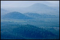 Old cinder cones in the distance. Newberry Volcanic National Monument, Oregon, USA