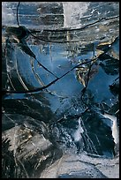Close-up of obsidian glass. Newberry Volcanic National Monument, Oregon, USA (color)