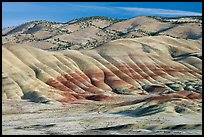 Painted hills. John Day Fossils Bed National Monument, Oregon, USA ( color)