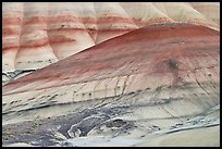 Colorful hummocks and hills. John Day Fossils Bed National Monument, Oregon, USA
