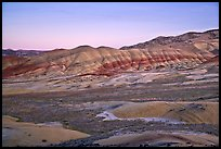 Painted hills at dusk. John Day Fossils Bed National Monument, Oregon, USA (color)