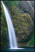 Horsetail Falls. Columbia River Gorge, Oregon, USA (color)