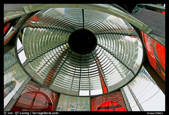 Glass prism, Cap Meares lighthouse. Oregon, USA (color)