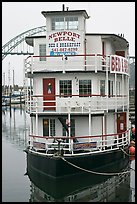 Newport Belle floating Bed and Breakfast. Newport, Oregon, USA (color)