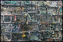 Close-up of crab traps. Newport, Oregon, USA (color)