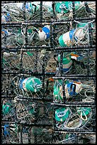 Close-up of traps used for crabbing. Newport, Oregon, USA (color)
