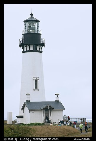 Yaquina Head Lighthouse. Newport, Oregon, USA (color)