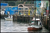 Fishing boats and pier. Newport, Oregon, USA (color)