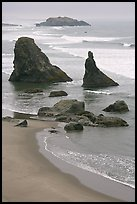 Rock needles. Bandon, Oregon, USA