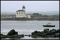 Coquille River lighthouse. Bandon, Oregon, USA (color)