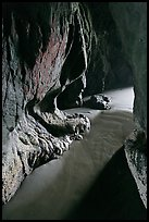 Inside seacave. Bandon, Oregon, USA