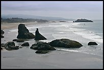 Sea stacks at Face Rock. Bandon, Oregon, USA