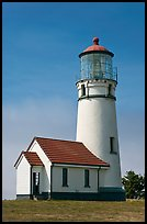 Cape Blanco Lighthouse tower. Oregon, USA (color)