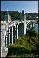 Isaac Lee Patterson Bridge over the Rogue River. Oregon, USA (color)