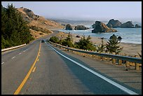 Oceanside road, Pistol River State Park. Oregon, USA
