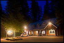 Union Creek resort by night. Oregon, USA