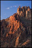 Ryolite pinnacles at sunset. Smith Rock State Park, Oregon, USA (color)